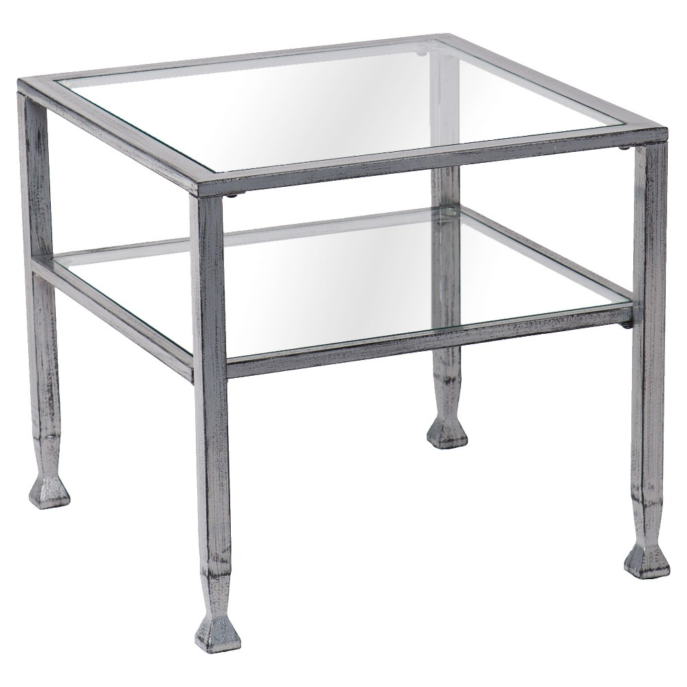 Image of Jamel Cocktail Table - Silver - Aiden Lane