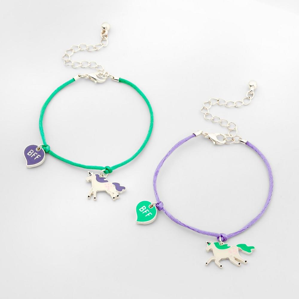 Girls' 2pk Unicorn Bff Bracelet - Cat & Jack One Size, Multi-Colored