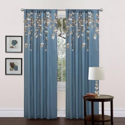 Flower Drops Light Filtering Window Curtain Panel - Lush Décor