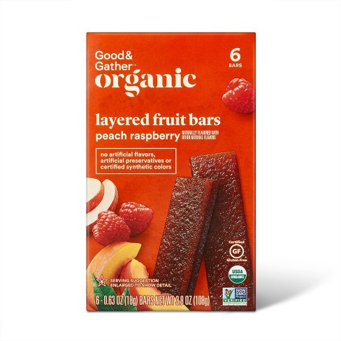 Organic Peach Raspberry Flavored Fruit Bar - 3.8oz/6ct - Good & Gather™ - image 1 of 4