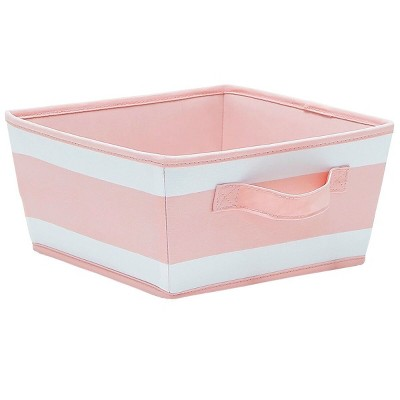 Striped Fabric Bin Small Pink - Pillowfort™