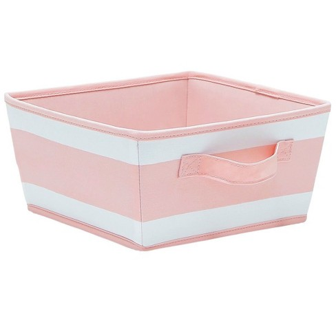 Small Striped Fabric Toy Storage Bin Pink - Pillowfort™ - image 1 of 1