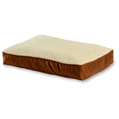 Kensington Garden Buster Rectangle Pillow Dog Bed - Latte/Birch