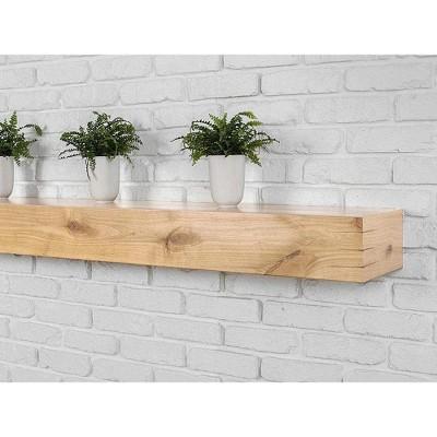 Mantels Direct Wallace Floating Wood Fireplace Mantel Shelf