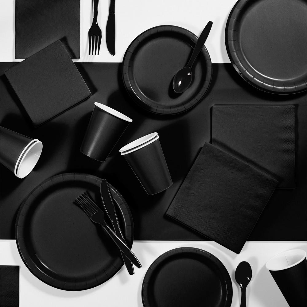 245pk Party Supplies Kit Black Best