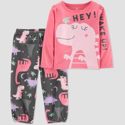 Baby Girls' Dino 2pc Pajama Set - Just One You® made by carter's Pink 12M
