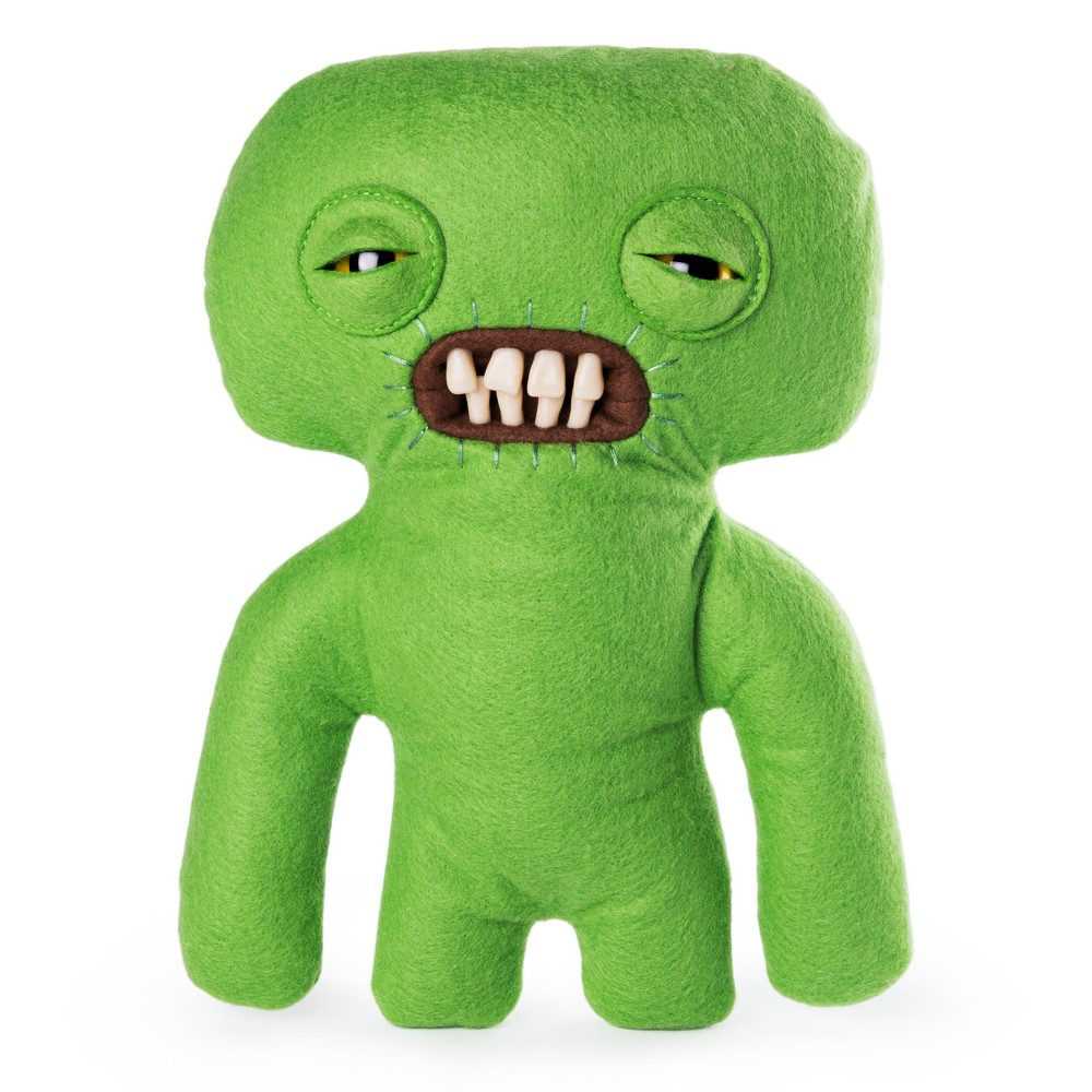 Fuggler Funny Ugly Monster 9 Squidge Plush Creature with Teeth - Green
