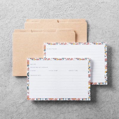 40ct Floral Recipe Card with Dividers - Hearth & Hand™ with Magnolia