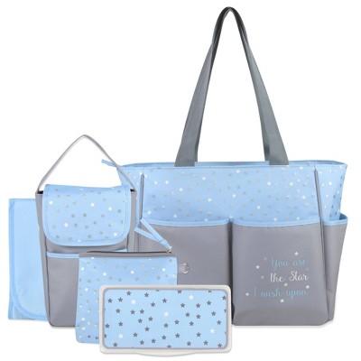 Baby Essentials Diaper Bag 5-in-1 - Blue
