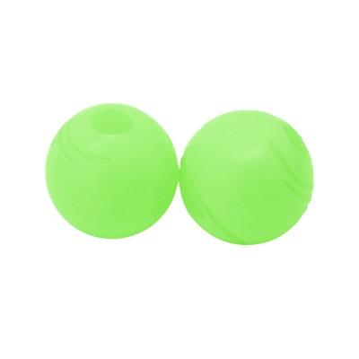 "Chew King Glow in the Dark Balls Dog Toy - 2pk - 2.5"""