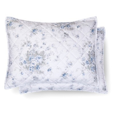 Shadow Rose Pillow Sham Standard - Teal&White - Simply Shabby Chic™