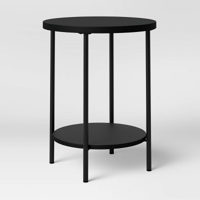 Wood and Metal Round End Table - Room Essentials™