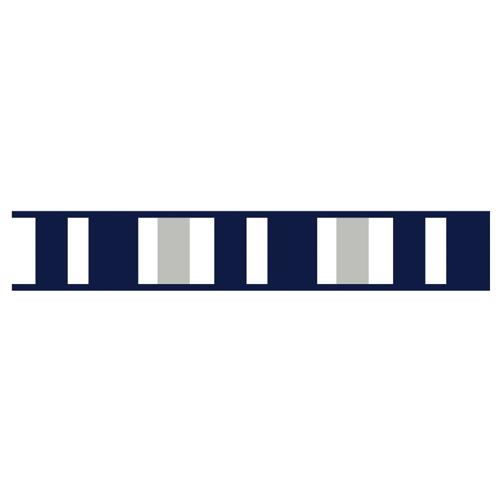 Navy & Gray Stripe Wall Border - Sweet Jojo Designs