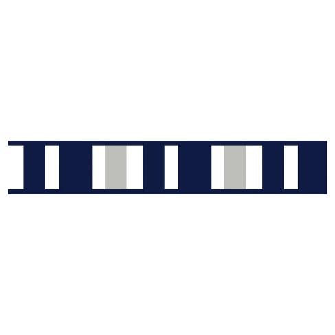 Navy Gray Stripe Wall Border Sweet Jojo Designs