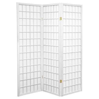 5 ft. Tall Window Pane Shoji Screen - Oriental Furniture