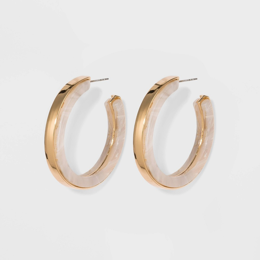 Image of Acetate Hoop Earrings - A New Day Gold, Women's