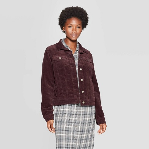 Women's Corduroy Jean Jacket - Universal Thread™ - image 1 of 3