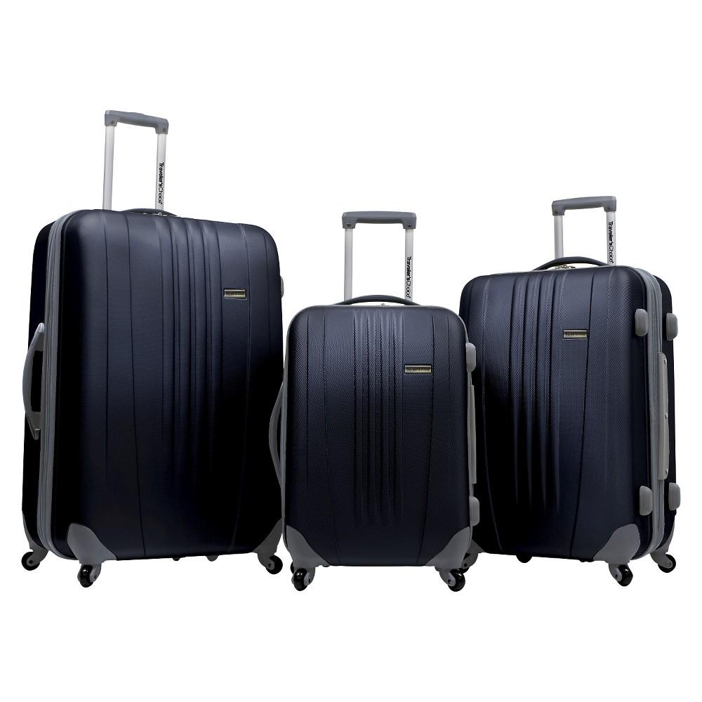 Traveler's Choice Toronto 3pc. Hardside Spinner Luggage Set - Black