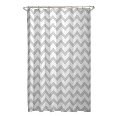 Chevron Shower Curtain Gray/White - Zenna Home