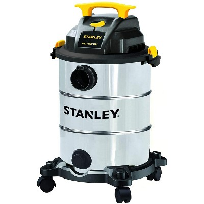 Stanley SL18117 Universal Portable Stainless Steel 8 Gallon Wet Dry Floor Shop Vacuum Cleaner and Blower with Wheels