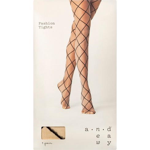 46ee0587051 Women s Diamond Shift Tights - A New Day™ Nude   Target