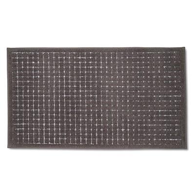 Gray Grid Rug Floor Mat (1'8 X2'10 )- Room Essentials™