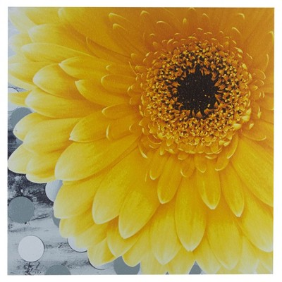 "24"" Square Vibrant Unframed Wall Canvas Yellow"