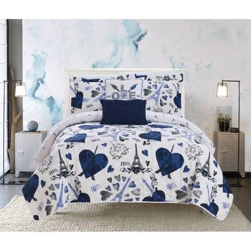 Chic Home Design Matisse Quilt & Sham Set - image 1 of 4