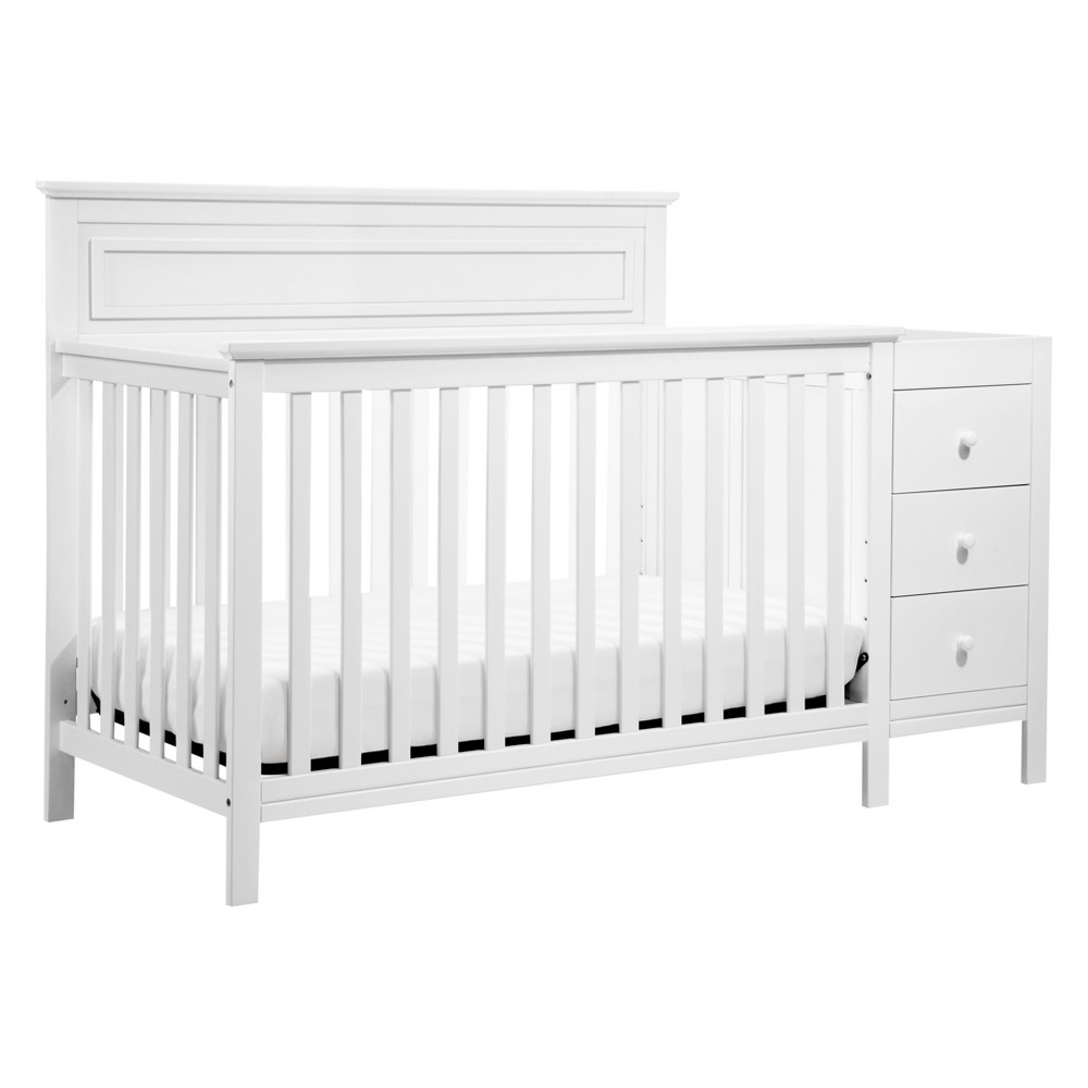 Image of DaVinci Autumn 4-in-1 Crib & Changer Combo - White