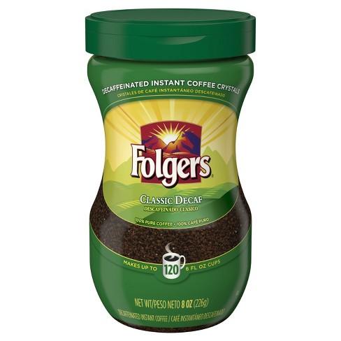Folgers Classic Medium Roast Instant Coffee - Decaf - 8oz - image 1 of 1