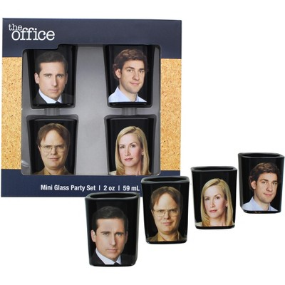 Just Funky The Office Character 2oz Shot Glass Set of 4