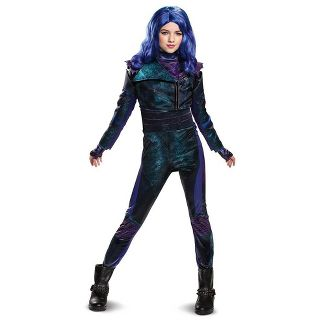 Kids' Deluxe Disney Descendants Mal Halloween Costume Jumpsuit S (4-6x)