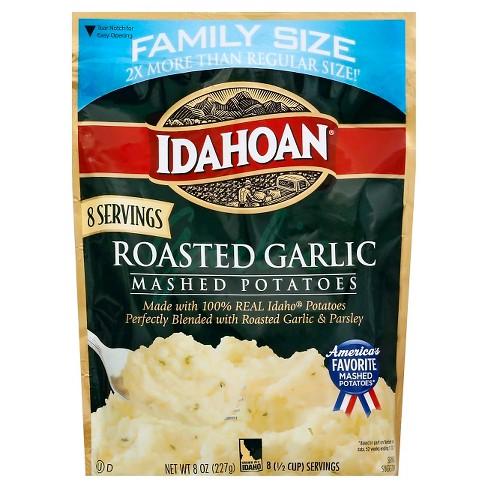 Idahoan Roasted Garlic Mashed Potatoes Family Size 8oz Target