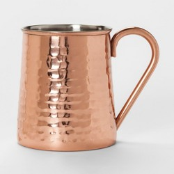 27oz Stainless Steel Hammered Mug Copper - Threshold™