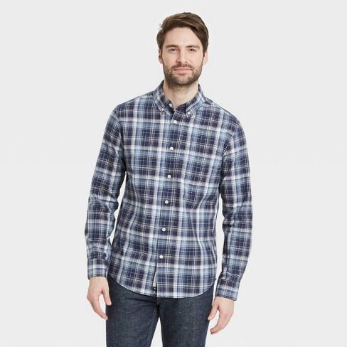 Men's Standard Fit Stretch Poplin Long Sleeve Button-Down Shirt - Goodfellow & Co™ - image 1 of 3