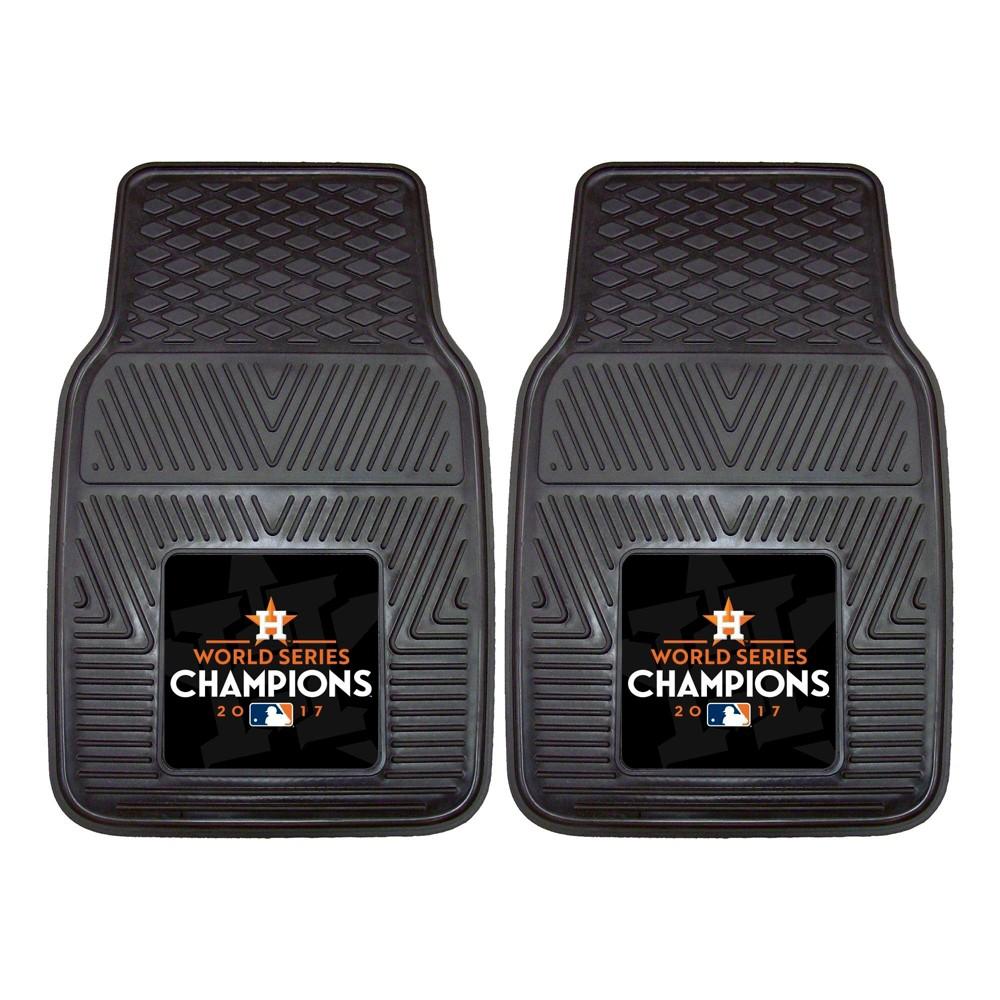 Houston Astros Fan Mats World Series Champions 2pc Heavy Duty Vinyl Car Mat Set, Mlb