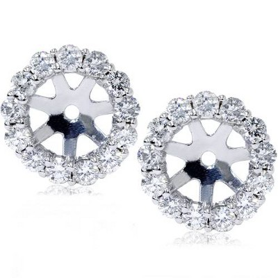 Pompeii3 14K White Gold 1/2ct. Diamond Earring Jackets (up to 6mm)