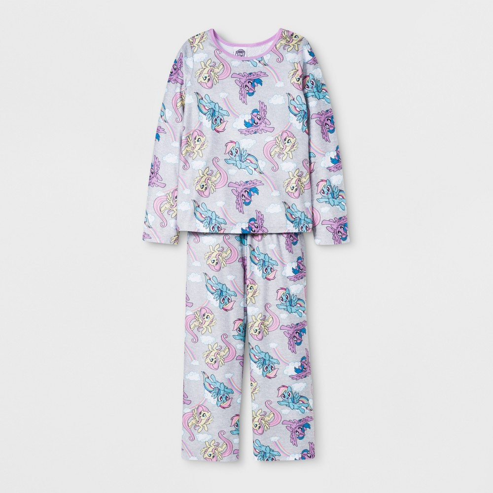 Girls' My Little Pony Door Buster 2pc Pajama Set - Gray 6