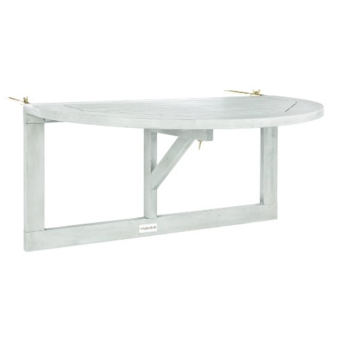 Owens Balcony Hanging Half Table - Gray Wash - Safavieh - image 1 of 4