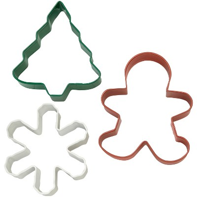 3pk Holiday Cookie Cutters - Wilton