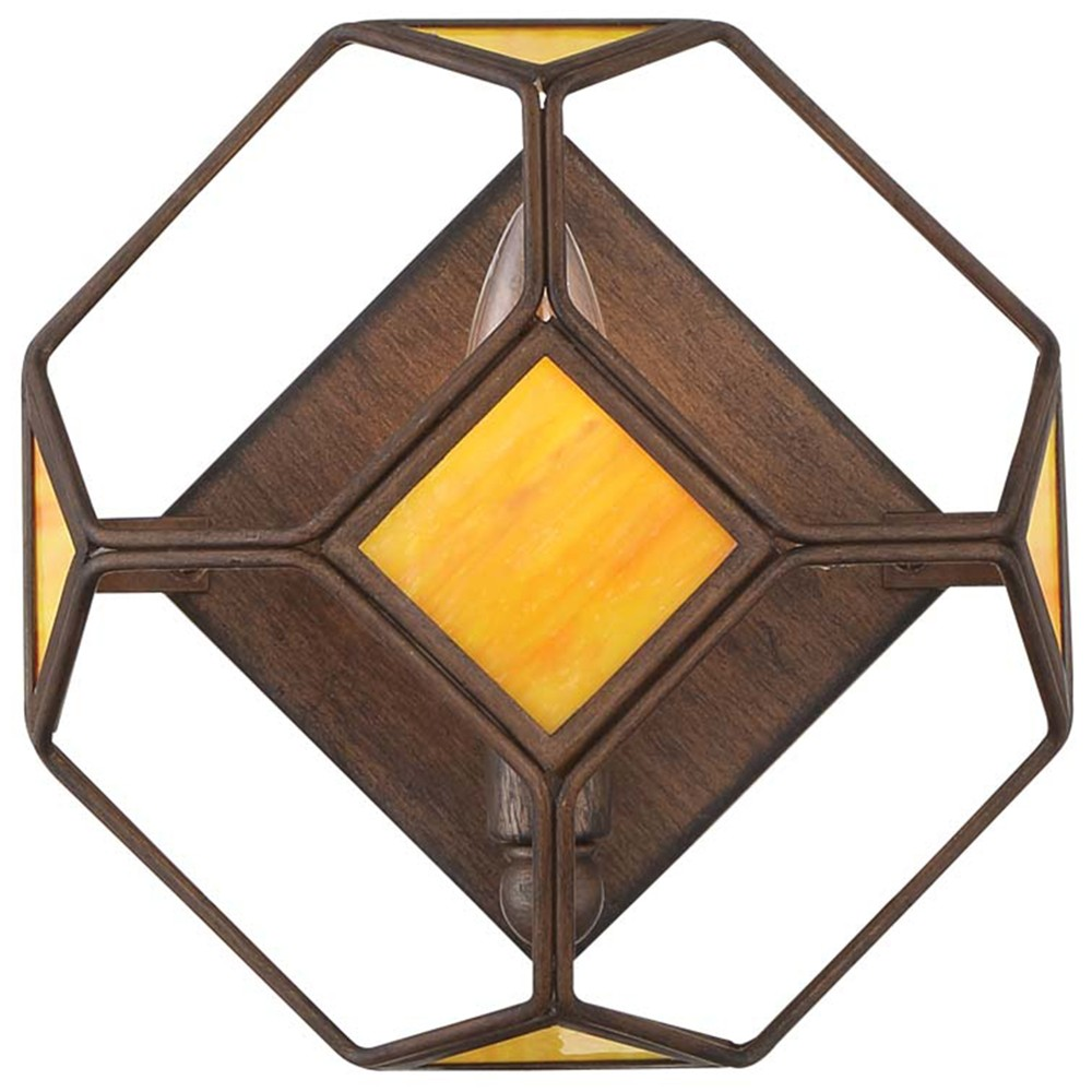 Image of Cubert 1-Light Cube Wall Sconce Rustic Bronze - Rogue Decor Co.