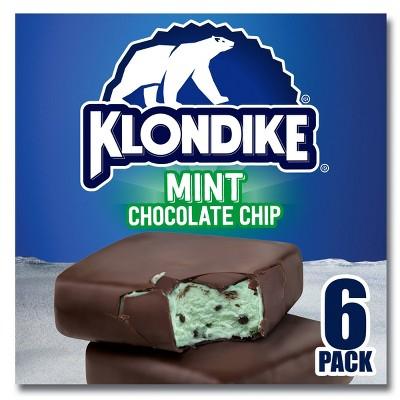 Klondike Mint Chocolate Chip Ice Cream Bars - 6pk