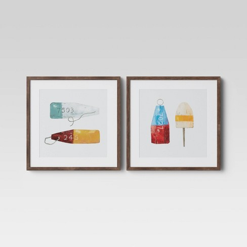 """Set of 2 20"""" X 20"""" Bouys Framed Wall Print - Threshold™ - image 1 of 4"""