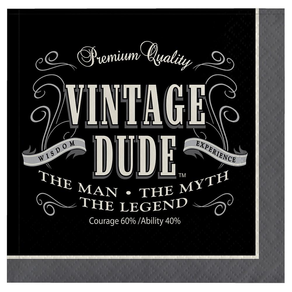 16ct Vintage Dude Cocktail Beverage Napkins