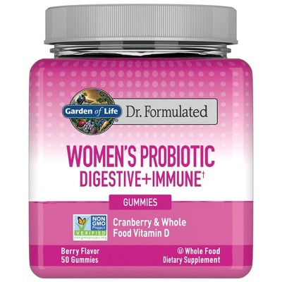 Garden of Life Dr. Formulated Women's Probiotic Digestive + Immune Gummy - 50ct