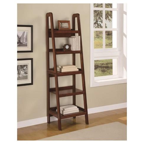 72 Castlewood Wood Veneer Ladder Bookcase