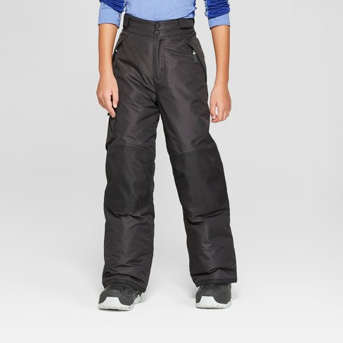 Boys' Solid Snow Pants - C9 Champion® Black - image 1 of 3