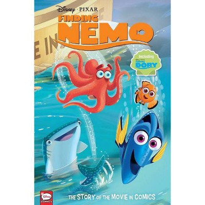 Disney/Pixar Finding Nemo and Finding Dory: The Story of the Movies in Comics - by  Alessandro Ferrari & Charles Bazaldua (Hardcover)