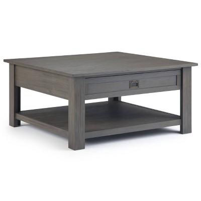 "38"" Garret Square Coffee Table Gray - WyndenHall"