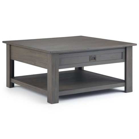"""38"""" Garret Square Coffee Table Gray - Wyndenhall - image 1 of 4"""